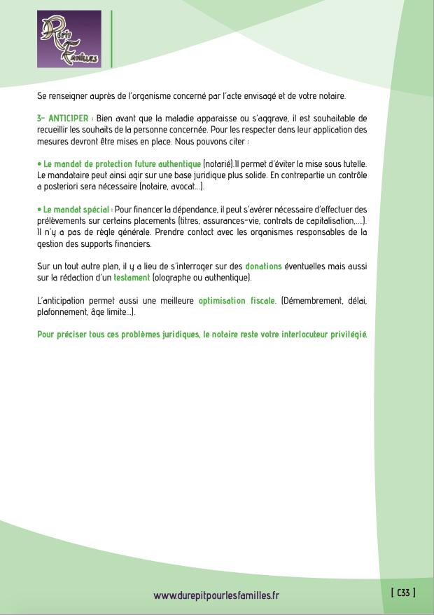 C33 aspects juridiques verso
