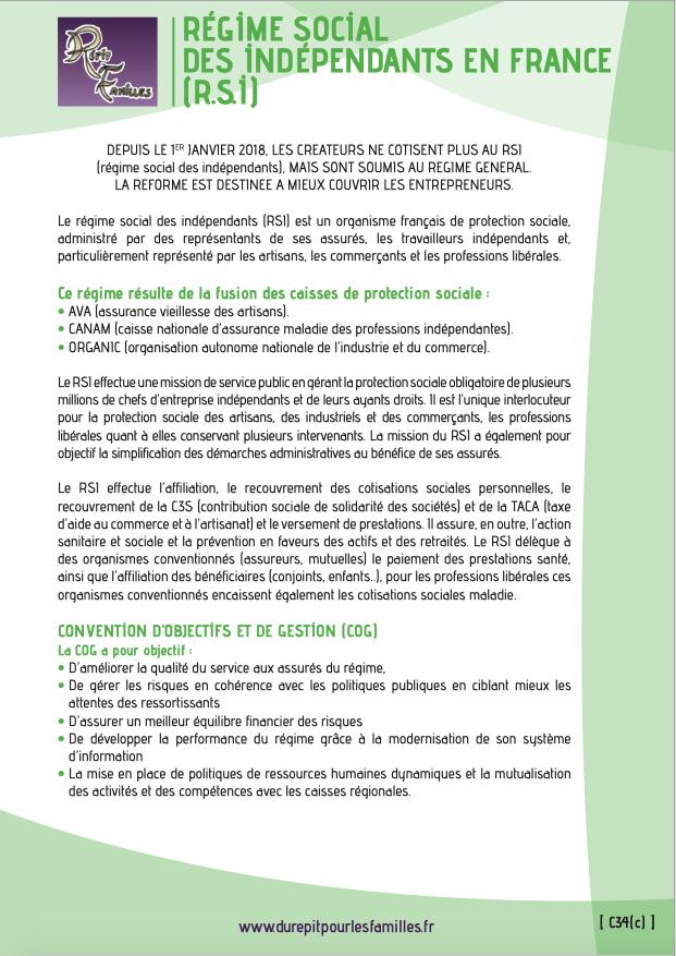 C34 c regime social des independants rsi recto