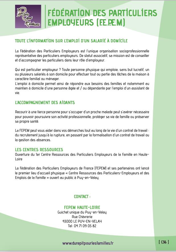 C36 federation des particuliers employeurs fepem